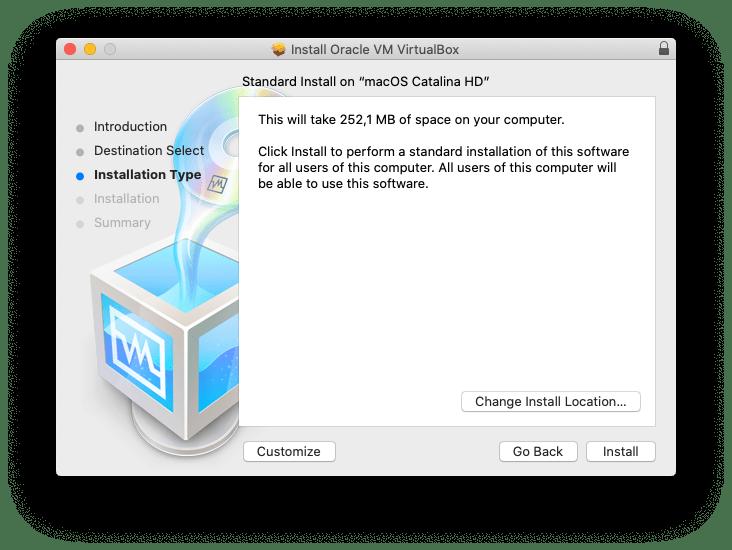 Install macos catalina virtualbox ubuntu
