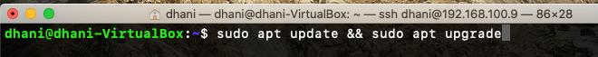 update ubuntu command