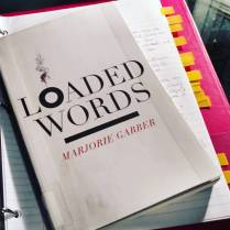 "100/100 (Nov 12, 2015) ""Loaded Words"" by Marjorie Garber. #goalmet First, let me say that this woman's mind is phenomenal; if I could learn half as much as she disseminates here alone, I'd be on my way to feeling accomplished. Also, there is something fitting in that I ended this challenge with an author who was really my first university professor thanks to a #harvardextensionschool course, and set me on the path I now work towards. #requiredreading: ""Loaded Words,"" ""Mad Lib,"" ""Our Genius Problem,"" ""Good to Think With,"" ""The Gypsy Scholar and the Scholar Gypsy,"" ""Radical Numbers,"" and ""After the Humanities."" #100books #100bookchallenge #bookfeet #fortheloveofthepage"