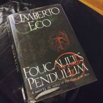 "76/150 (Aug 24, 2016) ""Foucault's Pendulum"" by Umberto Eco. ""It wasn't that he refused to bow to the lust for power; he refused to bow to nonmeaning. He somehow knew that, fragile as our existence may be, however ineffectual our interrogation of the world, there is nevertheless something that has more meaning than the rest."" This was everything Dan Brown wishes he could have written, but didn't have the depth of knowledge or the command of language to ever attempt. I began this book in March because I had never read any of Eco's novels, and it is now almost September. I am both mentally exhausted and oddly satisfied, and though I might not try another Eco novel for a few years at least, I am glad I finally checked it off the list. Read this book to understand how to write, and know that not only is the author phenomenal, but his translator, William Weaver, is phenomenal. #read2016 #fortheloveofthepage #bookfeet #booksintranslation #umbertoeco"