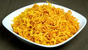 Aloo Bhujia (Potato Sev) recipe by Manjula