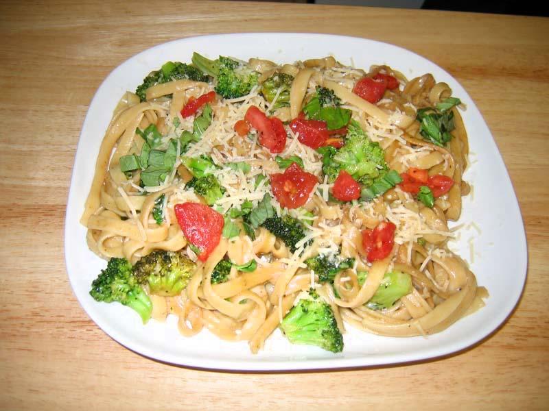 Today S Dinner Fettuccini With Balsamic Vinegar And Bruschetta