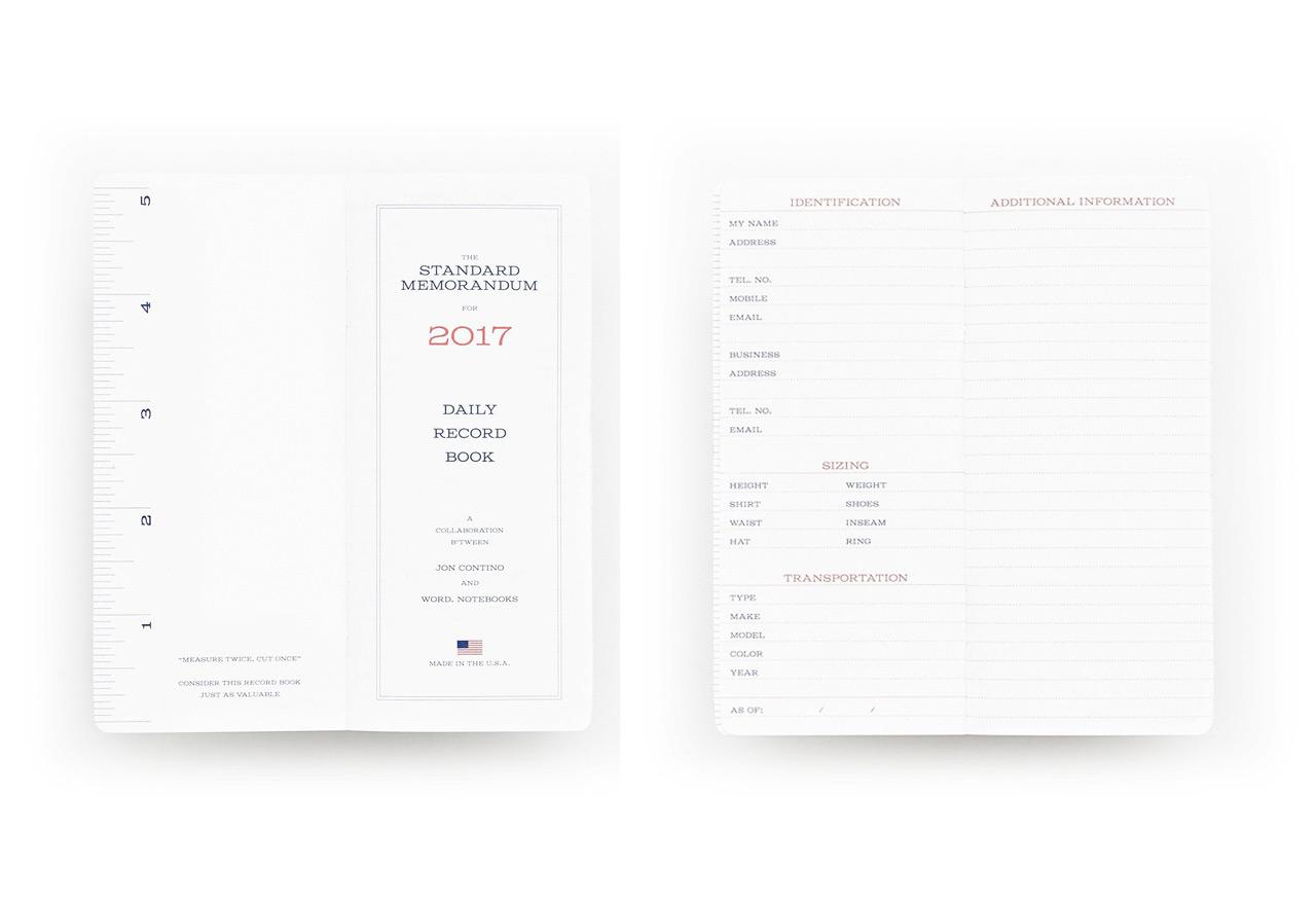 Word Notebooks Standard Memorandum 2017