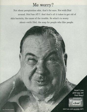 Man Showering Vintage Soap