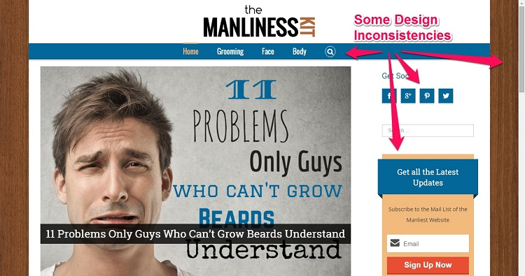 First theme template for The Manliness Kit