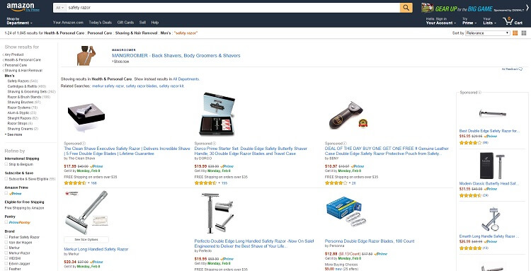 Where to buy a safety razor - Amazon is the best place to get one