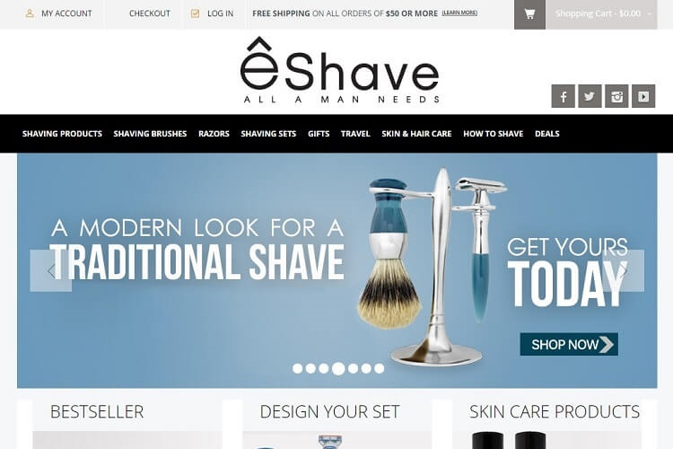 eShave is an awesome brand to buy a safety razor
