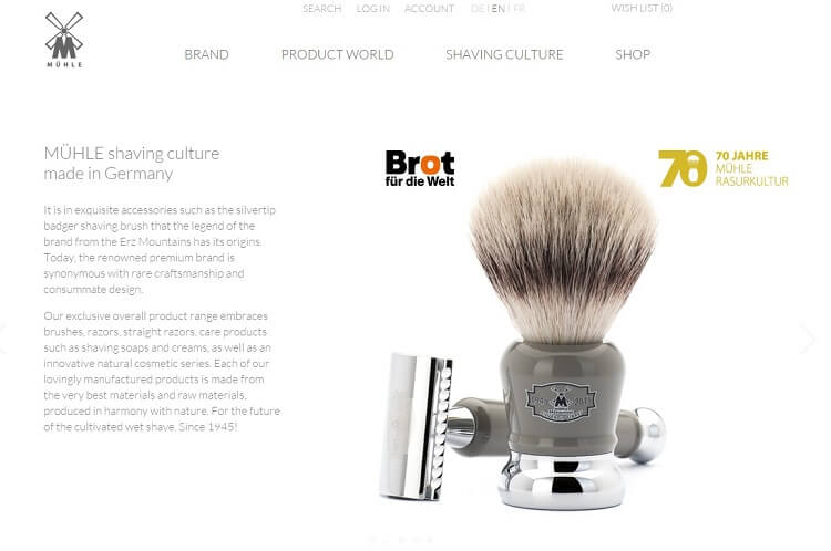 official muehle eshop to buy a safety razor