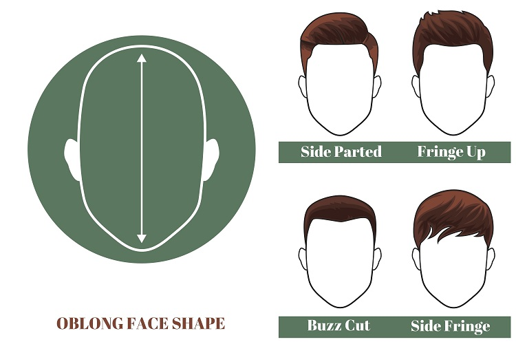 best short hairstyles for men with oblong face shape