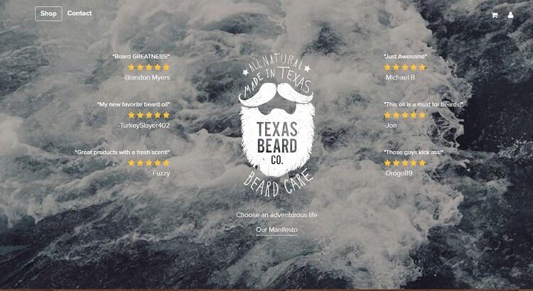 Texas beard company company eshop