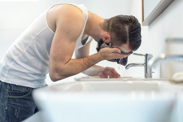 Soften your beard before shaving to prevent razor burn on face and neck