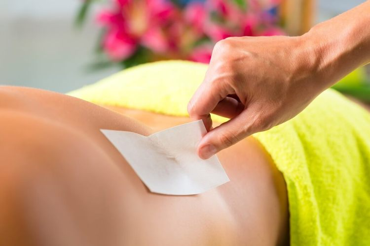 Get rid of back hair with waxing