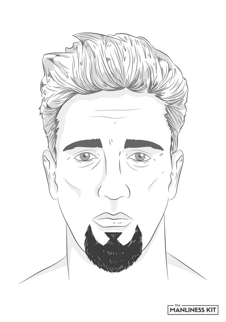 goatee with chin strap