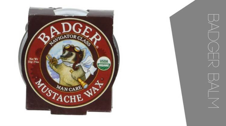 Great mustache wax by Badger Balm