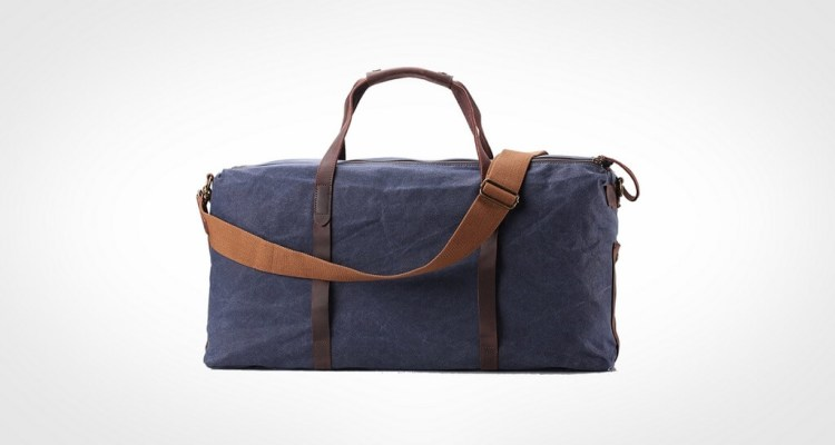 ZEKAR Large Waxed Canvas Leather Travel Duffel