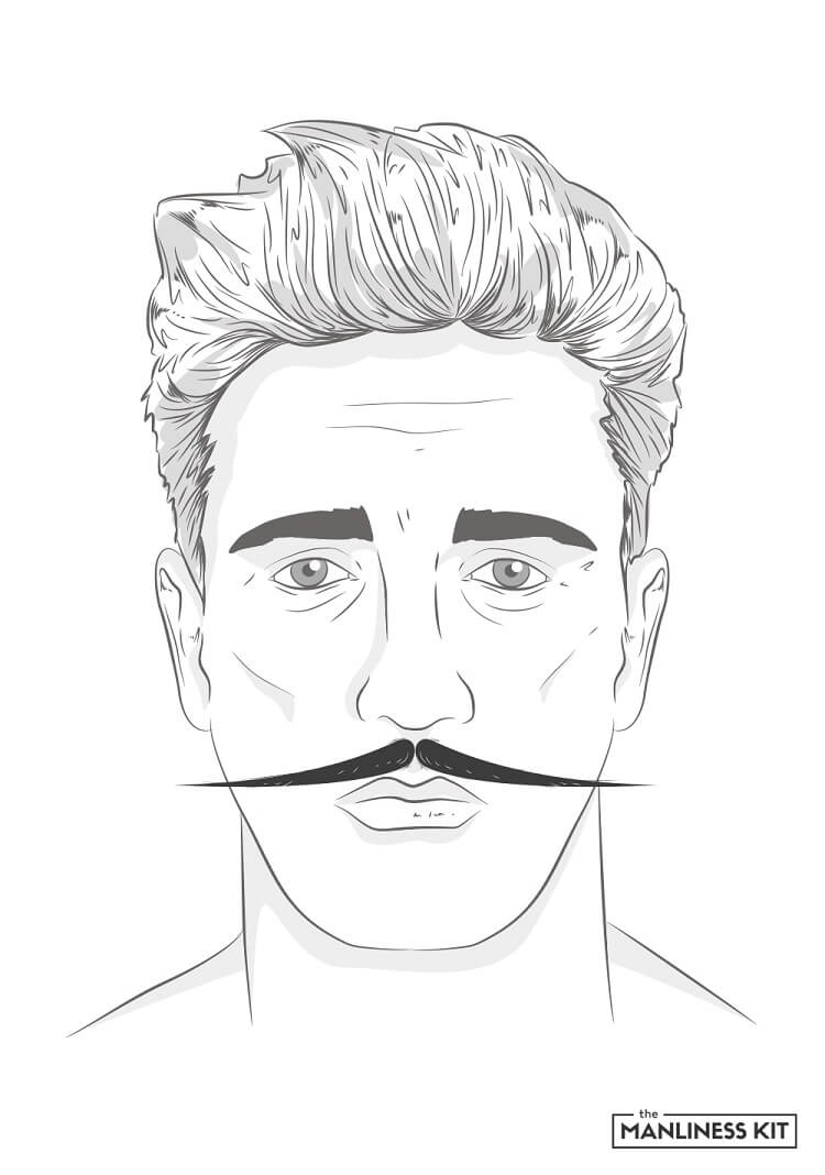 english mustache style