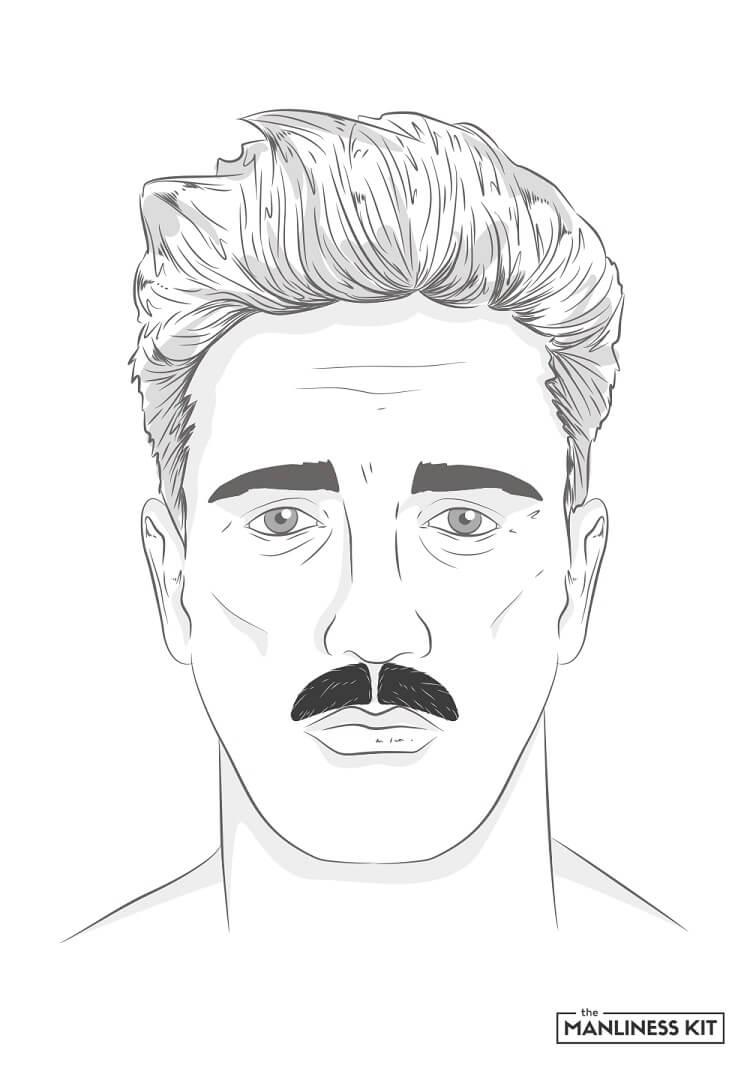 major mustache style