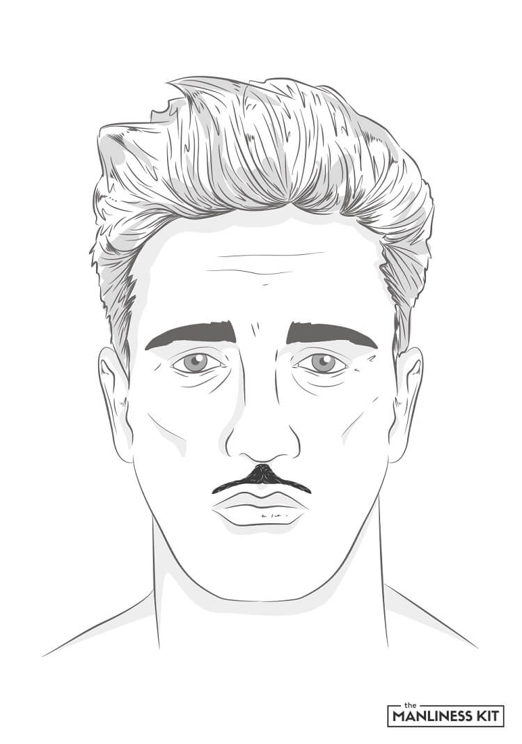 pyramid mustache style