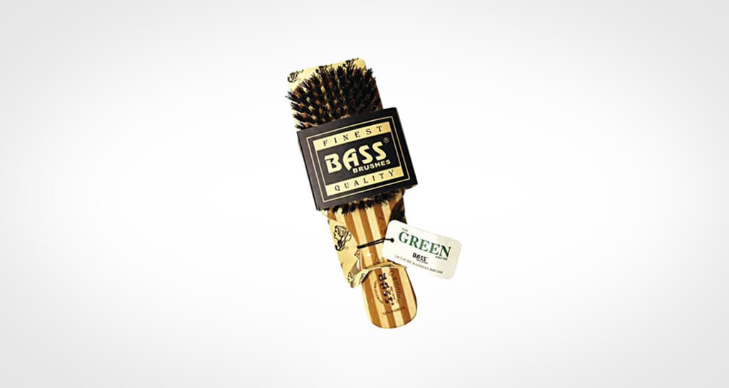 Bass hair brush for men with boar bristles