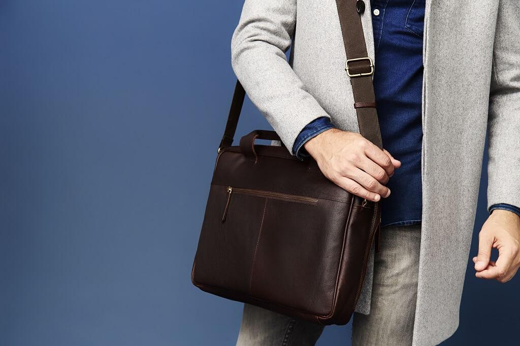 HIDE /& SLEEK Men Distressed Leather Business Satchel Briefcases