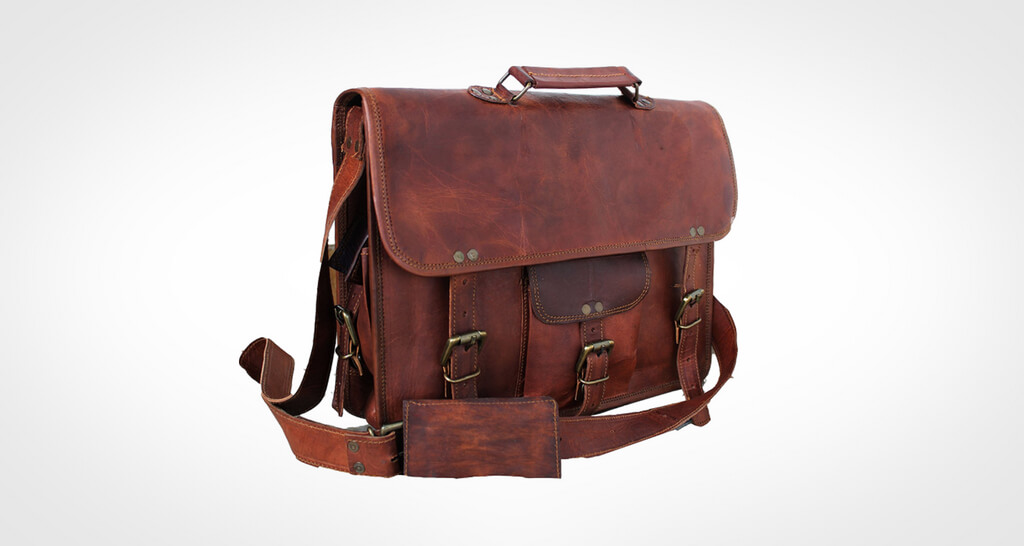 Cuero Handmadecraft Leather Messenger Bag