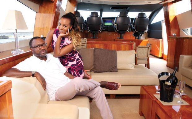Femi Otedola & daughter
