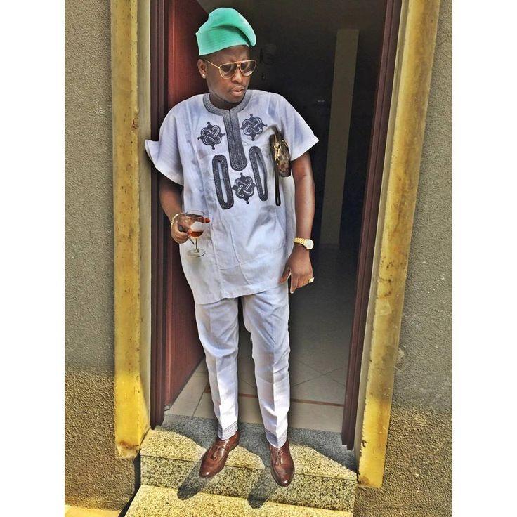 short sleeved yoruba native wear