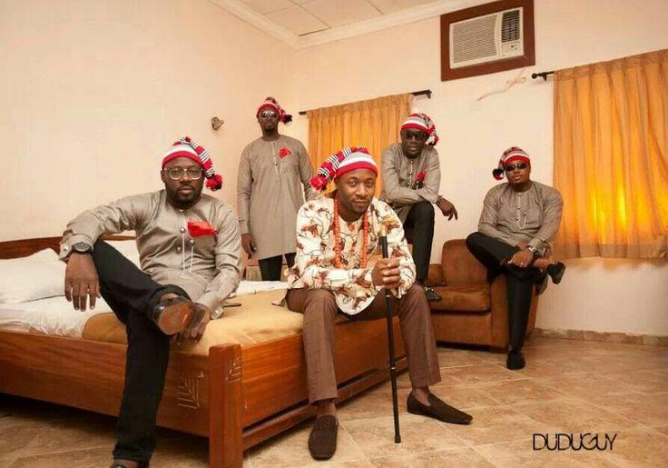Igbo traditionally dressegroomsmen