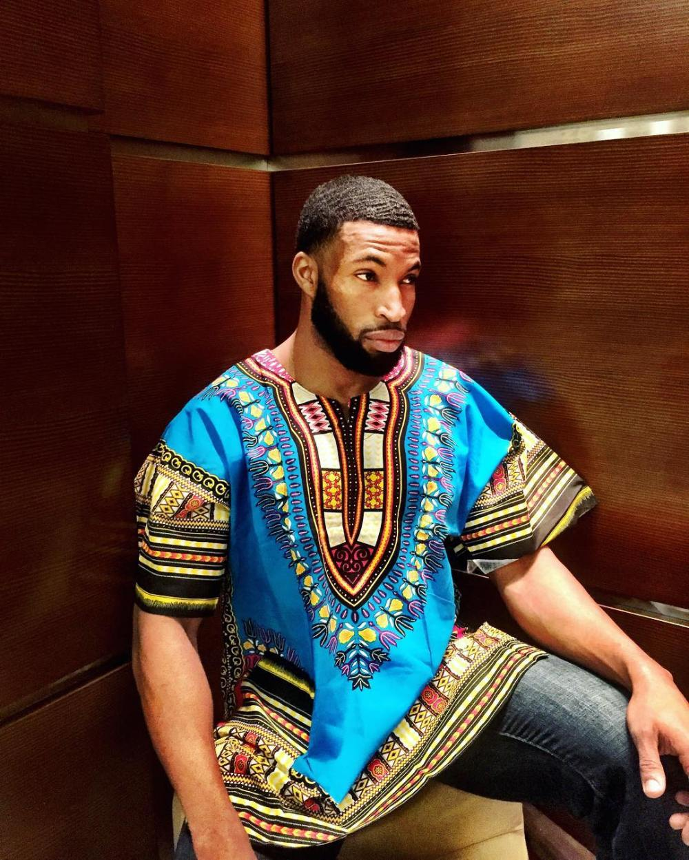 dashiki top with blue jeans