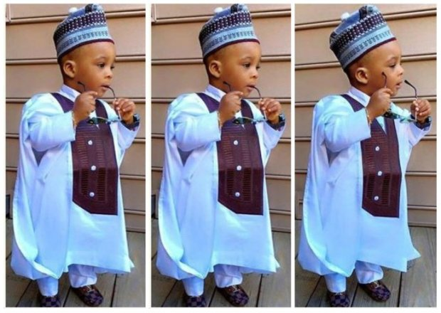 Agbada Styles for Baby Boys (1) powder blue cofee