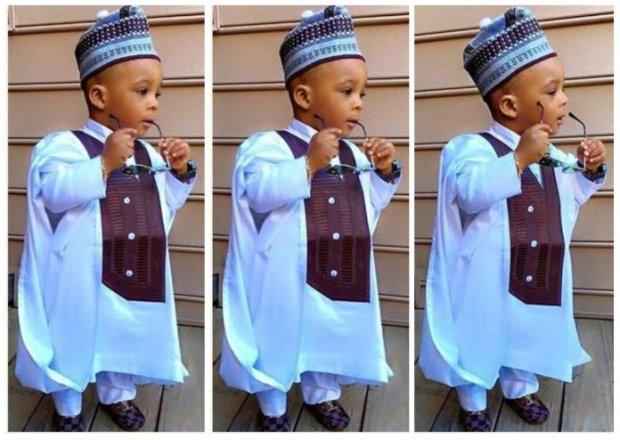 Agbada Styles for Baby Boys (1) powder blue cofee