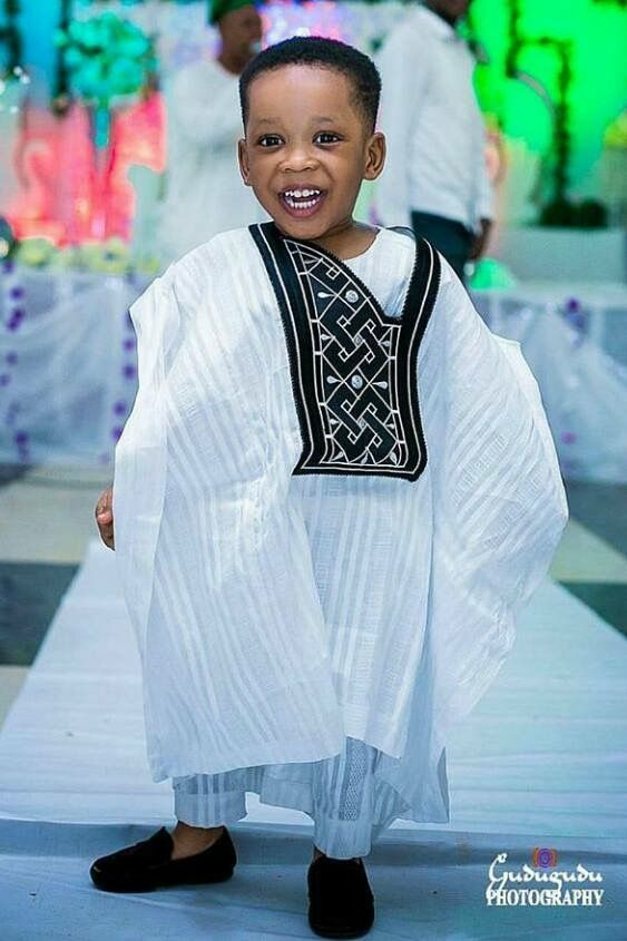 white and black agbada