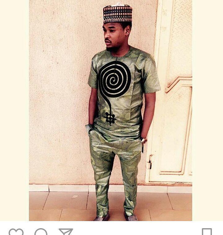 dark green arewa hausa styes