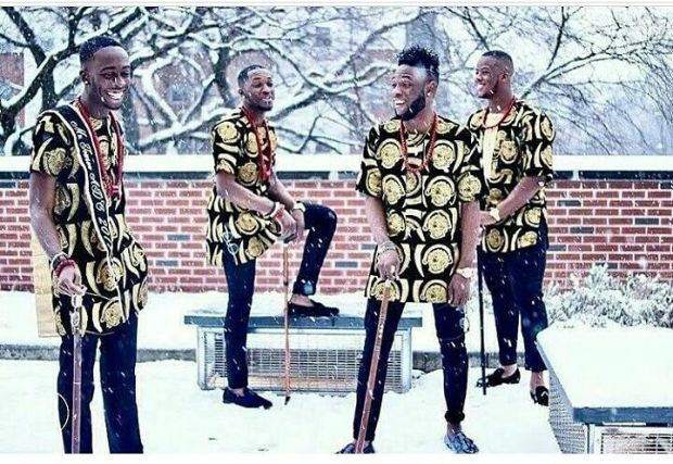 igbo grooms men with isiagu in the snow