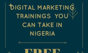 free digital marketing trainings in Nigeria