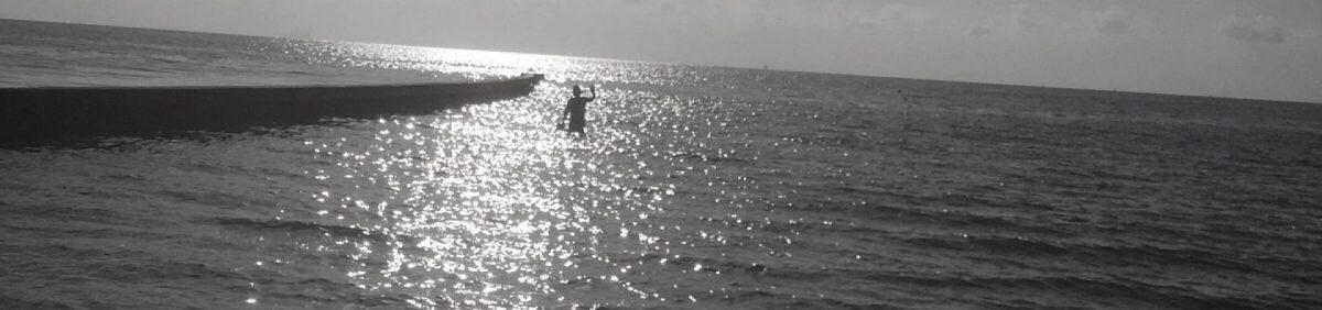 By my self in the ocean.