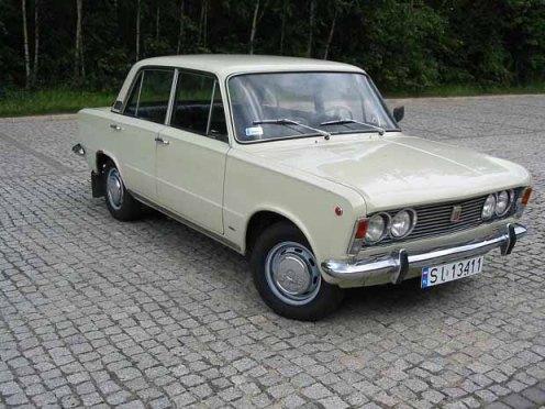 Polski Fiat 125p z początków produkcji