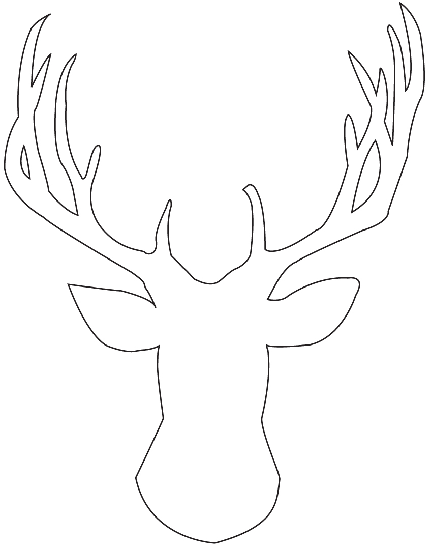 DIY: Stag Head Silhouette Art
