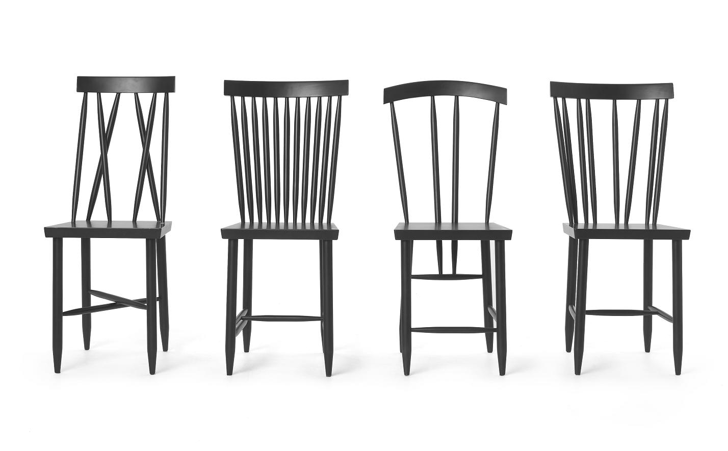 four chairs furniture fabric parsons black family man make home