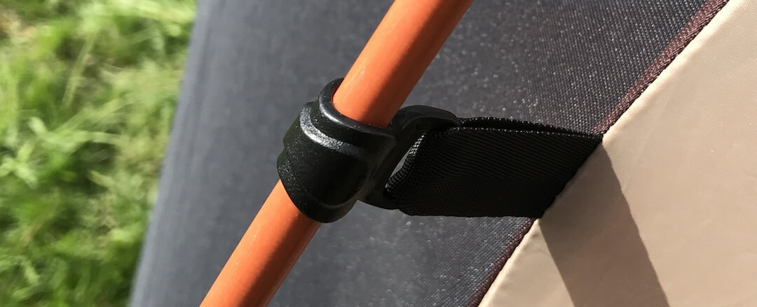 This image shows the West Wind Dome Tent pole connectors.