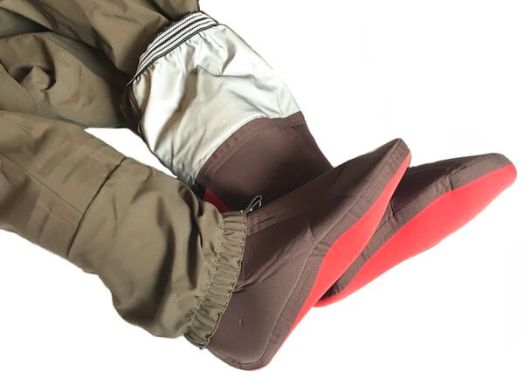 This photo shows the booties on the Redington Sonic-Pro HD Waders.