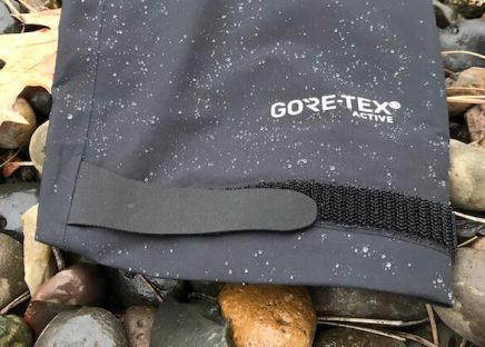 This image shows the sleeve cuff of the Drypoint GTX rain jacket.