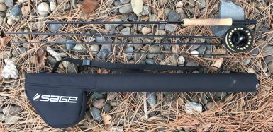 This photo shows the Sage Foundation Outfit with the rod and reel case.