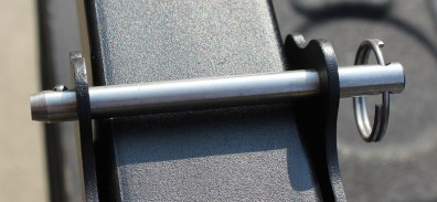 This photo shows a pin on the PACK-N-GO.