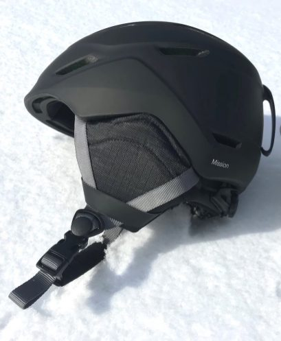 This Smith Mission review photo shows the Smith Mission Snow Helmet for men.