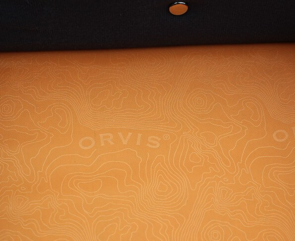This photo shows a close up of the interior fabric used in the Orvis Safe Passage Carry It All.