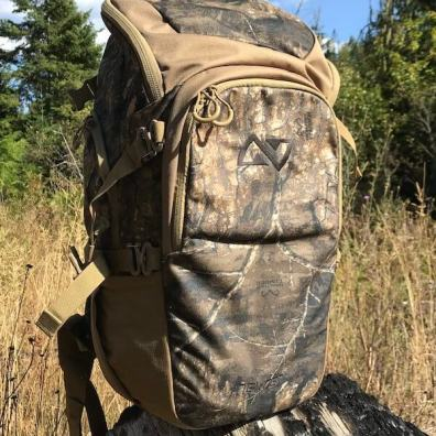 This photo shows the Nexgen Outfitters Whitetail Caddy Pack standing upright.
