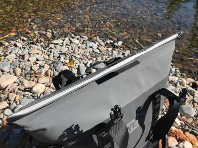 This photos shows the top of the YETI Hopper M30 'HydroShield' magnetic closure.