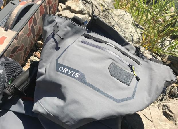 This photo shows the Orvis Pro Wader front.