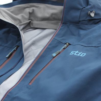 This photo shows the collar of the Stio Environ Jacket.